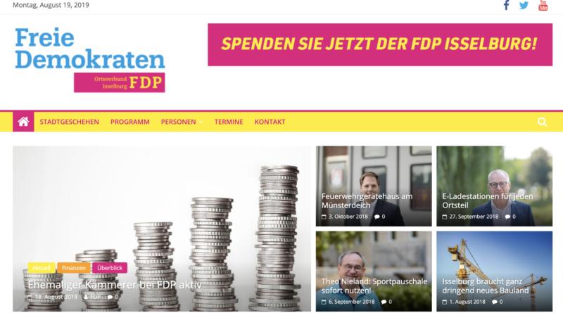 FDP mit neuer Website